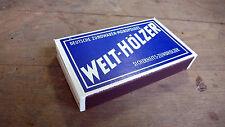 Objetos diario Vintage Caja Acerca de los partidos WELT HOLZER Alemania 1940