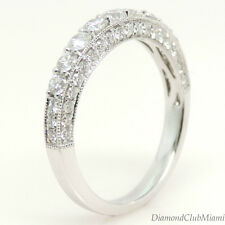 Estate 1.00ct Diamond 18Kt Gold Band Ring 2.5 Grams