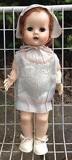 Nice Vintage Retro 1950/ 60s Hard Plastic Walker Doll All Original