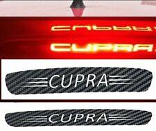 3rd Brake Light Overlay Sticker Seat Leon CUPRA Carbon Fiber Vinyl