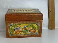 Current 1979 Kitchen Fare RECIPE BOX W/79 Recipe Cards 12 Dividers Fruit Veg