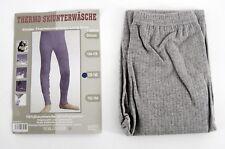 confort sous-vêtements de ski enfants PANTALON THERMIQUE longue jambe gris clair