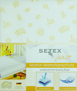 Moltontuch Betteinlage Matratzenschutz 50 x 70 Nässeschutz Kinderbett mit Motiv