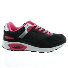 Womens Black Pink Trainers Running exercise shoes Daps gym wear Size UK 3