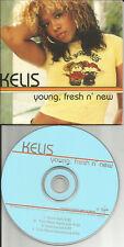 KELIS w/ TIMO MAAS Young Fresh n New EDITS & INSTRUMENTAL PROMO CD USA seller