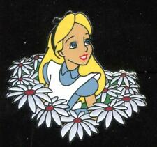 Alice in Wonderland with Flowers Daisies Disney Pin