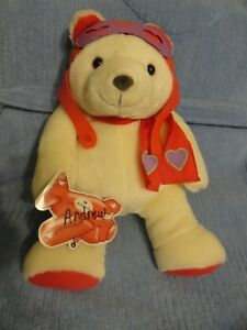"Hallmark 14"" Lovitt White Aviator Bear"