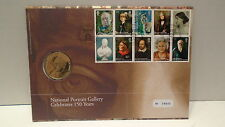 Great Britain 2006 cover with National Portrait Gallery medallion