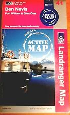 Ben Nevis, Fort William and Glen Coe - OS Landranger ACTIVE Map 41 (New, 2012)