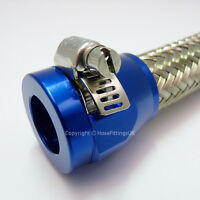 AN -10 (AN10) 20mm BLUE HOSE END FINISHER Fuel Oil Water Pipe JUBILEE CLIP Clamp