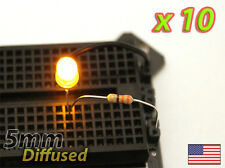 [10x] Yellow 5mm LED Diffused - Mod your Car, PC, Arduino