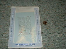 Microscale  decals N 60-257 Union Pacific safety slogans  F84