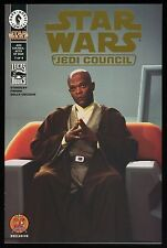 Star Wars Jedi Council 1 Dynamic Forces Exclusive Gold Foil Mace Windu Photo cvr