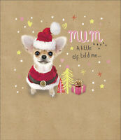 Cute Mum Embellished Christmas Greeting Card Special Xmas Cards