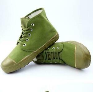 Men's Military High Top Canvas Lace Up Wearproof Non-Slip Sneaker Boots Shoes Sz