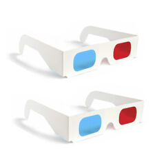 One Pair 3D Glasses Red Blue Paper Cardboard (2 Total)