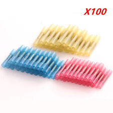 Hot 100PCS 12-10 16-14 22-18 AWG Nylon Butt Wire Crimp Terminal Connector