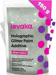 Glitter for Paint [150g] – Holographic Silver with 2 x Buffing Pads