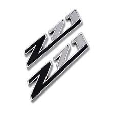 2x Silver Black Z71 Emblem Pickup Badge Metal Sport Sticker Chevy Off-Road Decal