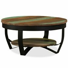 vidaXL Solid Reclaimed Wood Coffee Table Retro Living Room Side End Couch