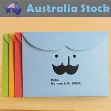 NEW Mustache PVC Paper file document folder organiser A4 organizer Stationery