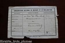 ✒ P.A.S. Emile PESSARD compositeur Grand Prix de Rome 1867 Léo DELIBES