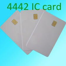 20 PCS ISO 7816 weiße PVC-IC mit SLE4442 Chip blank Smart Card IC-Karte Kontakt