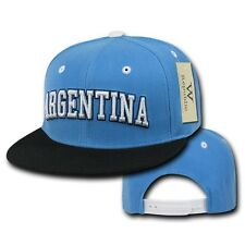 Argentina Soccer Flat Bill Snapback Snap Fit World Cup Baseball Ball Hat Cap