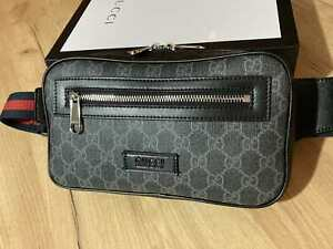 GUCCI Men's Belt Bag GG Canvas Women Supreme Belt Bag Made in Italy Authentic