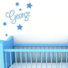 Personalised Name With Stars Wall Art Custom Boys Bedroom Vinyl Kids Sticker