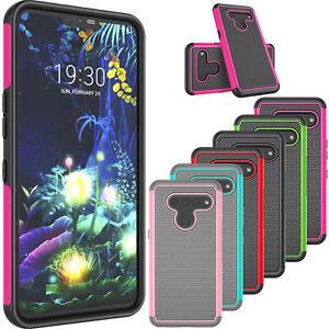 For LG V50/V60/V40 ThinQ Shockproof Hybrid Rubber Silicone Hard Phone Case Cover