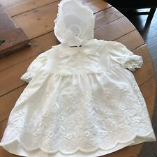Baptism Christening Dress Toddler Girls Gown Sateen Madonna 16 1/2-26 Pounds New
