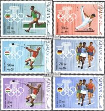 Ajman 570A-575A (complete issue) used 1970 olympic. Summer 1960