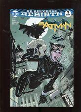 Batman Rebirth #1 (9.2) Midtown Variant Signed Finch