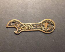 Vintage brass Blatz Private Stock beer pre prohibition bottle opener Milwaukee