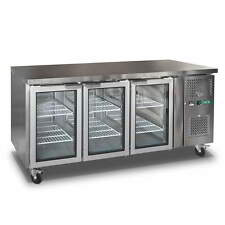 Commercial 3 Door Display Fridge Work bench Counter /Under Bench Stainless Steel