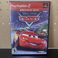 Disney Pixar Cars PS2(Sony PlayStation 2, 2006) Complete w/ Manual CIB TESTED GH