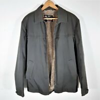 Vintage Sears Oakbrook Koratron Sherpa Lined Jacket Talon Zip Work Coat Sz 42 L