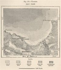 Tangier. Morocco 1885 old antique vintage map plan chart