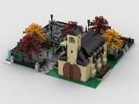 Lego Instructions Modular Church With Cemetery Building (4 models)