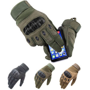 Tactical Hard Knuckle Full Finger Gloves Hunting SWAT Army Military Combat CS