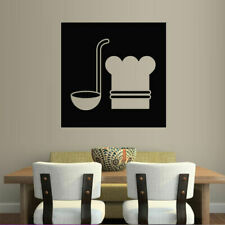 Wall Decal Kitchen Cook Spoon Cafe Restaurant Bar Dish Food Preparation M704