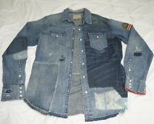 Polo Ralph Lauren Western Bandana Patchwork Denim Jean Shirt Limited Edition M
