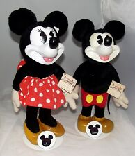 Disney Applause Woodcraft Mickey & Minnie Mouse New NWT+Stands Lim Ed Numbered
