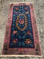 APPROX 1920's ANTIQUE ART DECO CHINESE NICHOLS RUG 2.7x4.9    LOWEST PRICES HERE