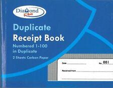 Page livre 12xduplicate réception Numérotées 1-100 Avec 2 feuilles de papier carbone, 125