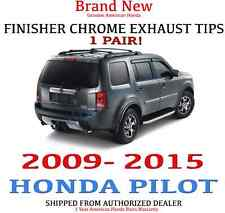 1 SET-  2009 - 2015 HONDA PILOT CHROME EXHAUST FINISHER