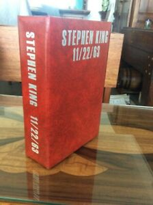 Traycased 11/22/63 Signed by Stephen King Rare