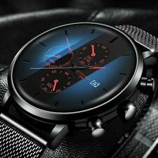 Luxury Mens Watch Military Stainless-Steel Date Sport Quartz Analog Wrist Watch