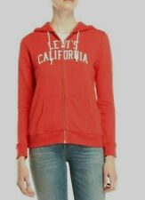 Levi's Hoodie Zip Up Coral Sweatshirt red